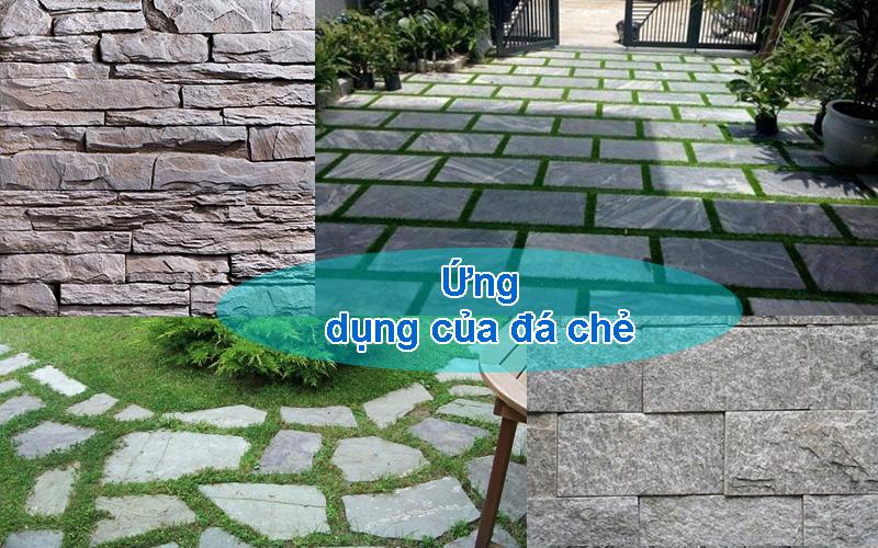 Đá chẻ thường dùng để ốp tường, xây móng nhà, trang trí ...