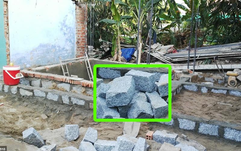 đá chẻ xây mong