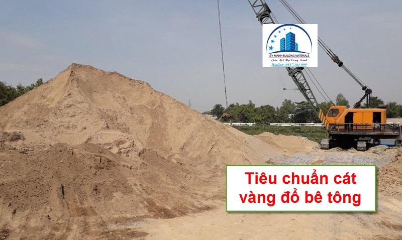 Tiêu chuẩn cát vàng đổ bê tông