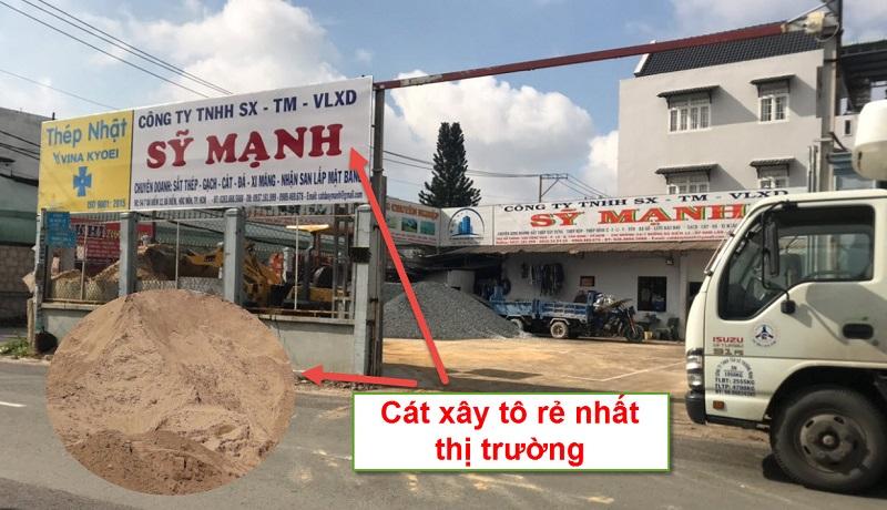 Sỹ Mạnh cung cấp cát xây tô đạt tiêu chuẩn, giá rẻ nhất thị trường tô