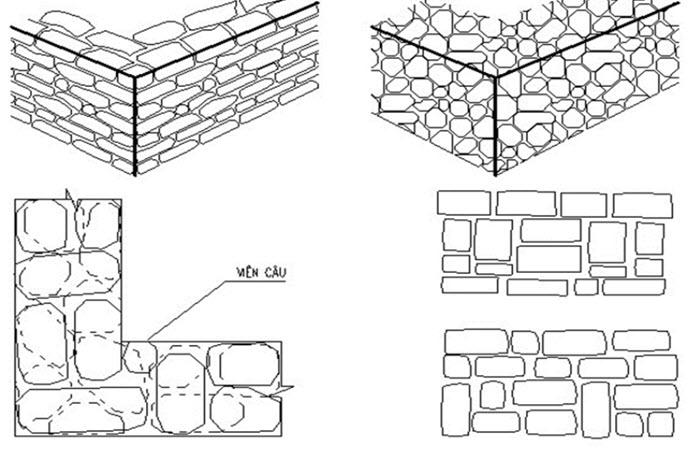 Tiêu chuẩn xây tường đá hộc