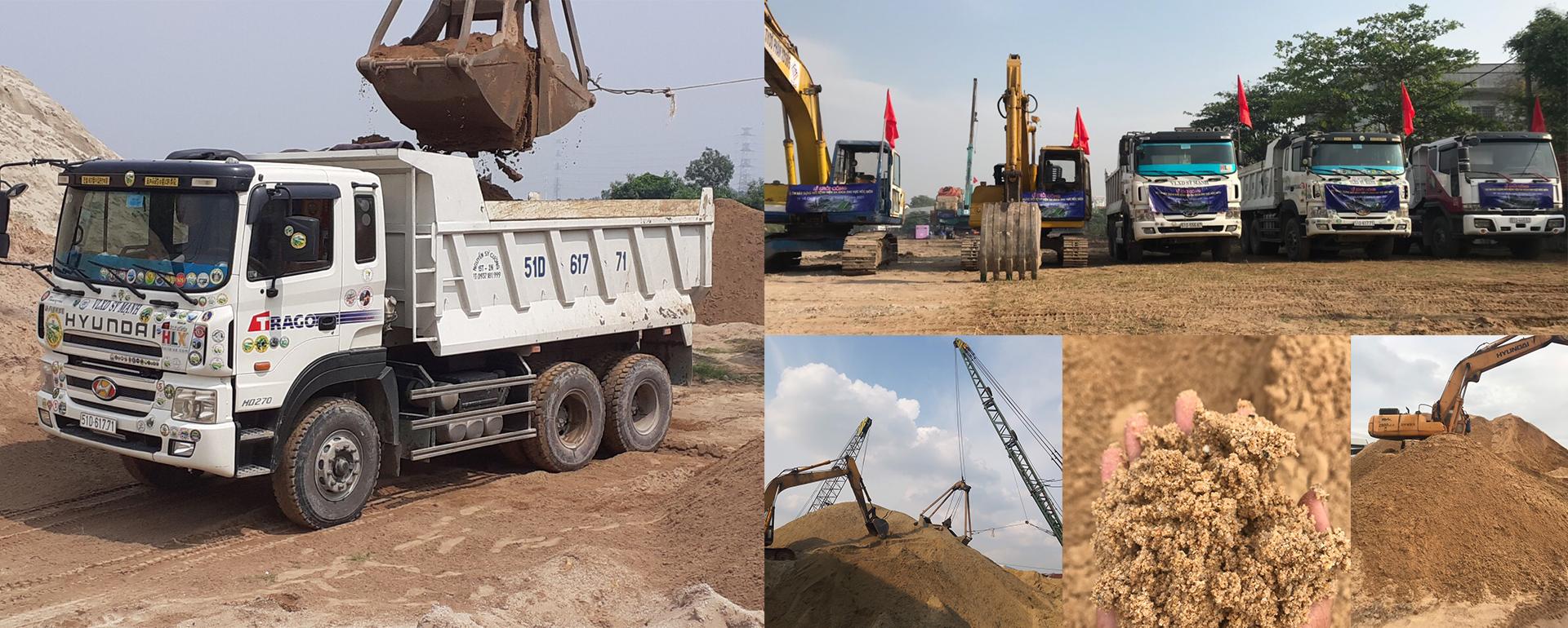 Slice chở cát xây dựng sỹ mạnh